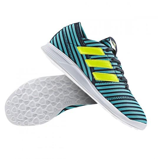 Zapatilla  adidas Nemeziz 17.4 TR Niño Legend ink-Solar yellow-Energy blue