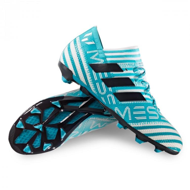 c932f5cabed1 Boot adidas Kids Nemeziz Messi 17.1 FG White-Legend ink-Energy blue ...