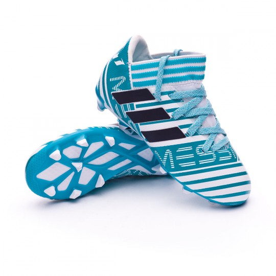 Chuteira  adidas Jr Nemeziz Messi 17.3 FG White-Legend ink-Energy blue