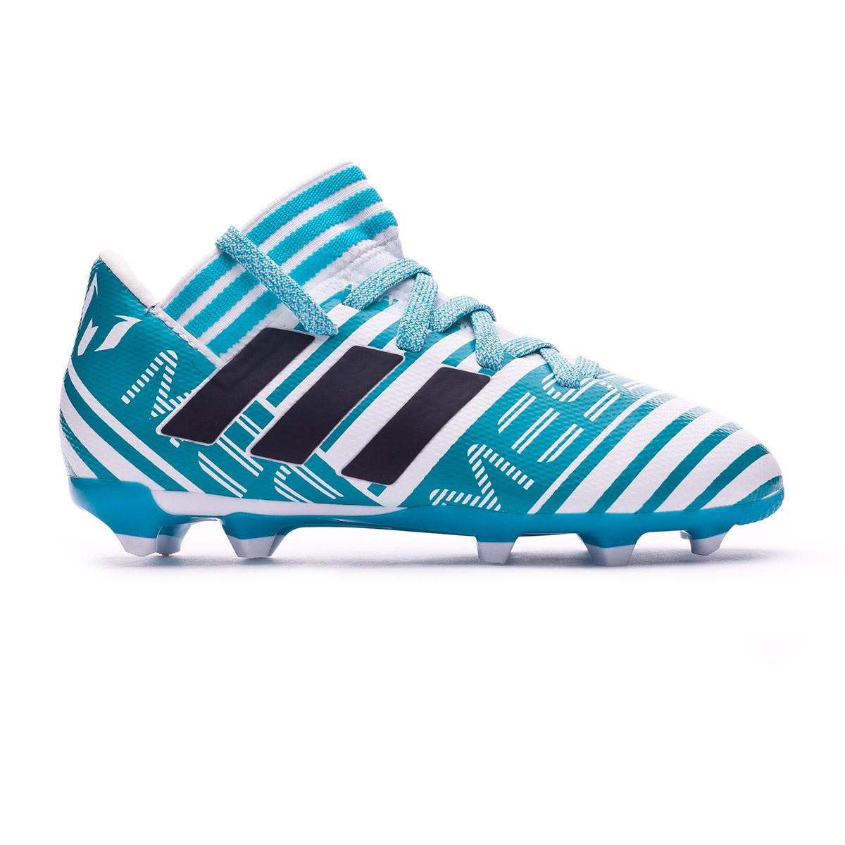 a12b8449567f1 Zapatos de fútbol adidas Nemeziz Messi 17.3 FG Niño White-Legend ink-Energy  blue - Tienda de fútbol Fútbol Emotion