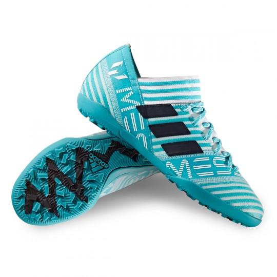 Zapatilla  adidas Nemeziz Messi Tango Turf Niño White-Legend ink-Energy blue