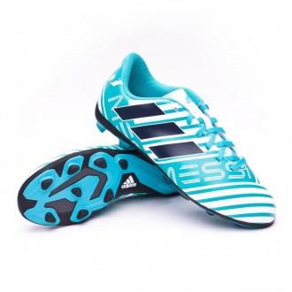 Bota  adidas Nemeziz Messi 17.4 FxG Niño White-Legend ink-Energy blue