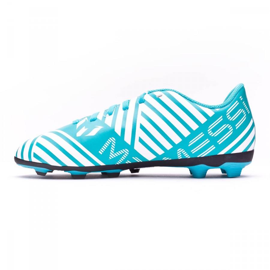 c7666465fc6 Football Boots adidas Kids Nemeziz Messi 17.4 FxG White-Legend ink-Energy  blue - Football store Fútbol Emotion