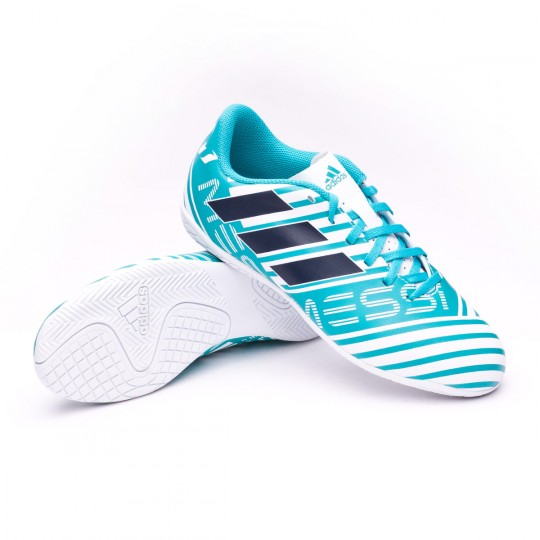 Zapatilla  adidas Nemeziz Messi 17.4 IN Niño White-Legend ink-Energy blue