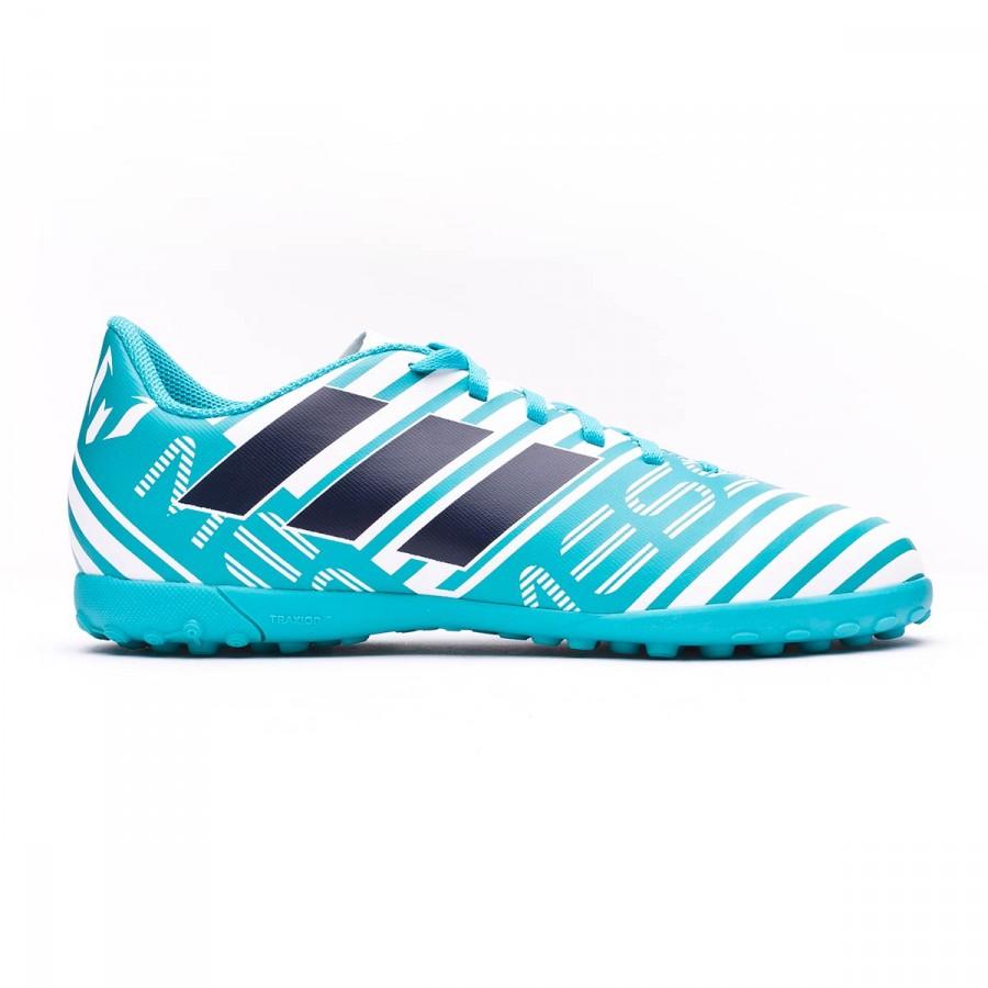 Football Boot adidas Jr Nemeziz Messi 17.4 Turf White-Legend ink-Energy blue  - Soloporteros es ahora Fútbol Emotion 11b172f1d04b3