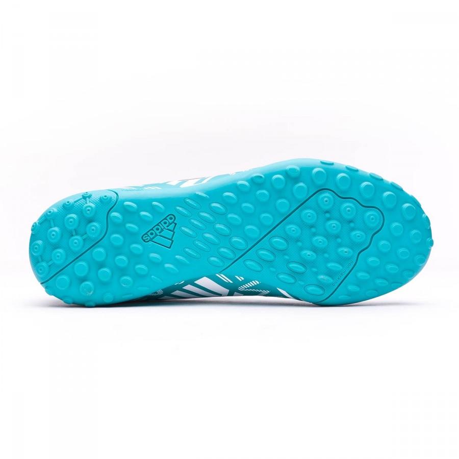 0833ee374 Football Boot adidas Jr Nemeziz Messi 17.4 Turf White-Legend ink-Energy  blue - Football store Fútbol Emotion