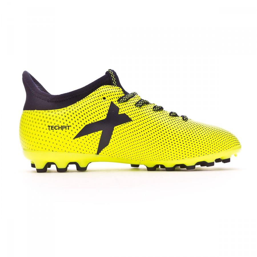 64aab87944d Chaussure de foot adidas X 17.3 AG enfant Solar yellow-Legend ink -  Boutique de football Fútbol Emotion