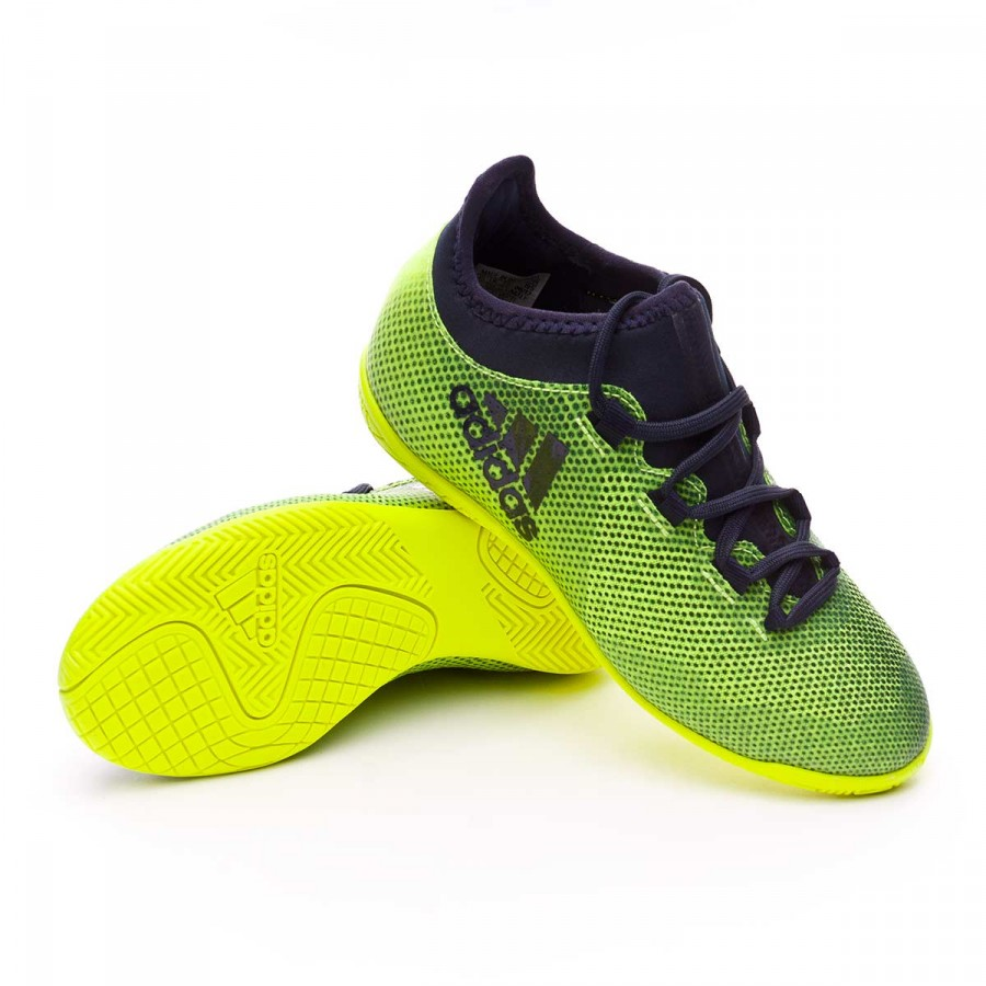 af3a49f13 adidas X Tango 17.3 IN kids Futsal Boot. Solar yellow-Legend ink ...