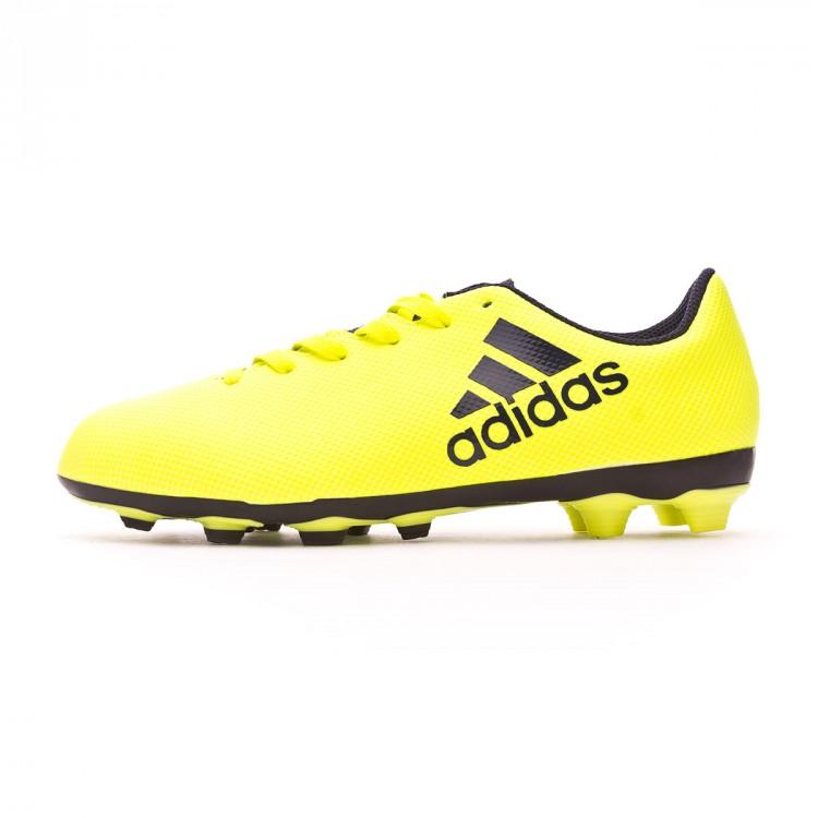 Chaussure de football adidas X 17.4 FxG enfant Solar yellow-Legend ... 09a04ab397ac