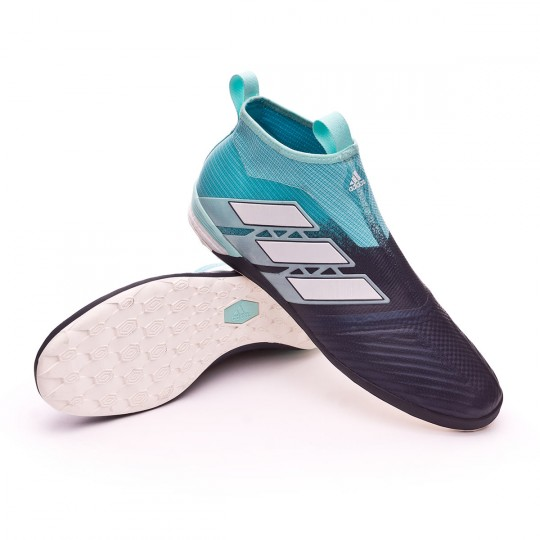 Chaussure de futsal adidas Ace Tango 17+ Purecontrol IN Energy agua White Legend ink