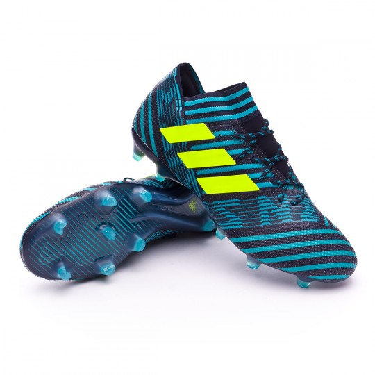 Chuteira  adidas Nemeziz 17.1 FG Legend ink-Solar yellow-Energy blue