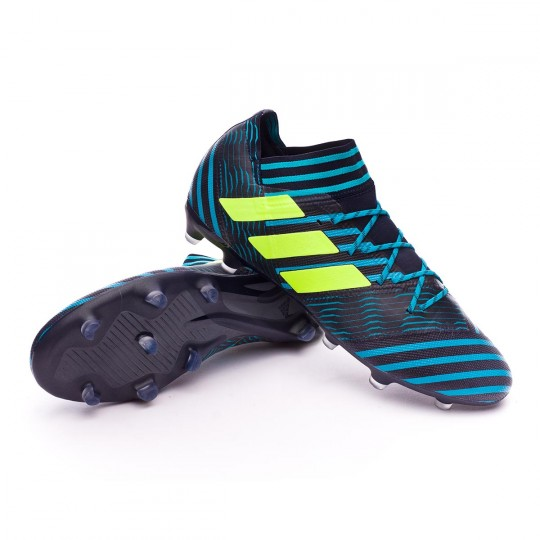 Chuteira  adidas Nemeziz 17.2 FG Legend ink-Solar yellow-Energy blue