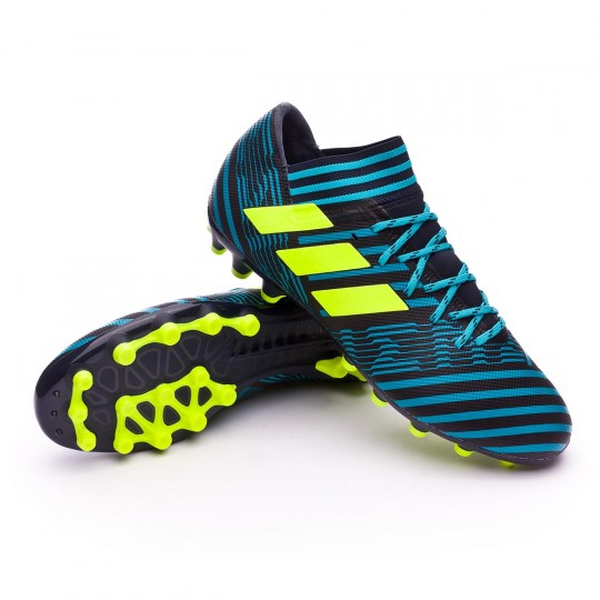 Chuteira  adidas Nemeziz 17.3 AG Legend ink-Solar yellow-Energy blue