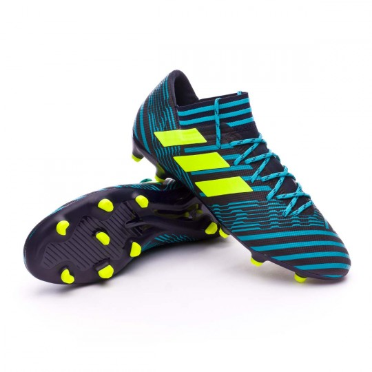 Chaussure  adidas Nemeziz 17.3 FG Legend ink-Solar yellow-Energy blue