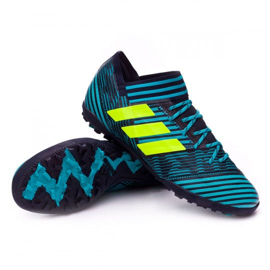 Zapatilla  adidas Nemeziz Tango 17.3 Turf Legend ink-Solar yellow-Energy blue