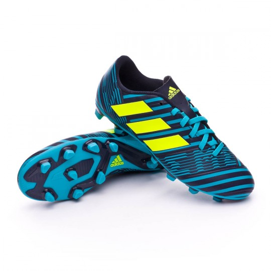 Chuteira  adidas Nemeziz 17.4 FxG Legend ink-Solar yellow-Energy blue
