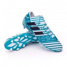 2460861bf70 Chuteira adidas Nemeziz Messi 17.3 FG White-Legend ink-Energy blue ...