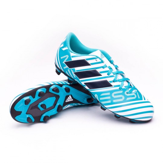 Chuteira  adidas Nemeziz Messi 17.4 FxG White-Legend ink-Energy blue