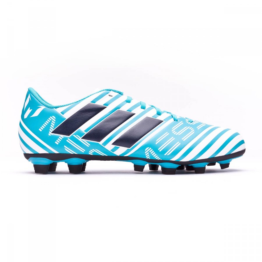 c87456ba71 Chuteira adidas Nemeziz Messi 17.4 FxG White-Legend ink-Energy blue - Loja  de futebol Fútbol Emotion