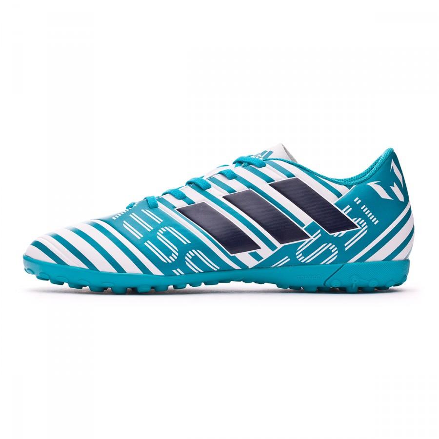 b5e6d9120 Football Boot adidas Nemeziz Messi 17.4 Turf White-Legend ink-Energy blue -  Tienda de fútbol Fútbol Emotion