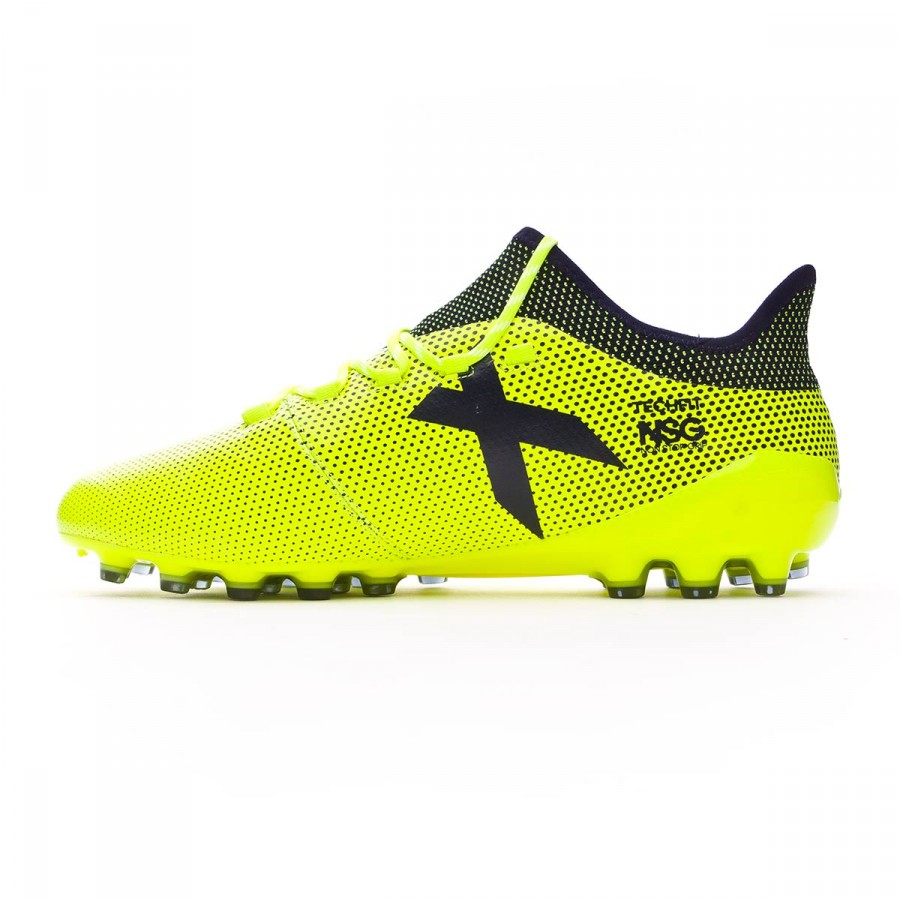 lowest price b9f14 e0993 Chaussure de foot adidas X 17.1 AG Solar yellow-Legend ink - Boutique de  football Fútbol Emotion