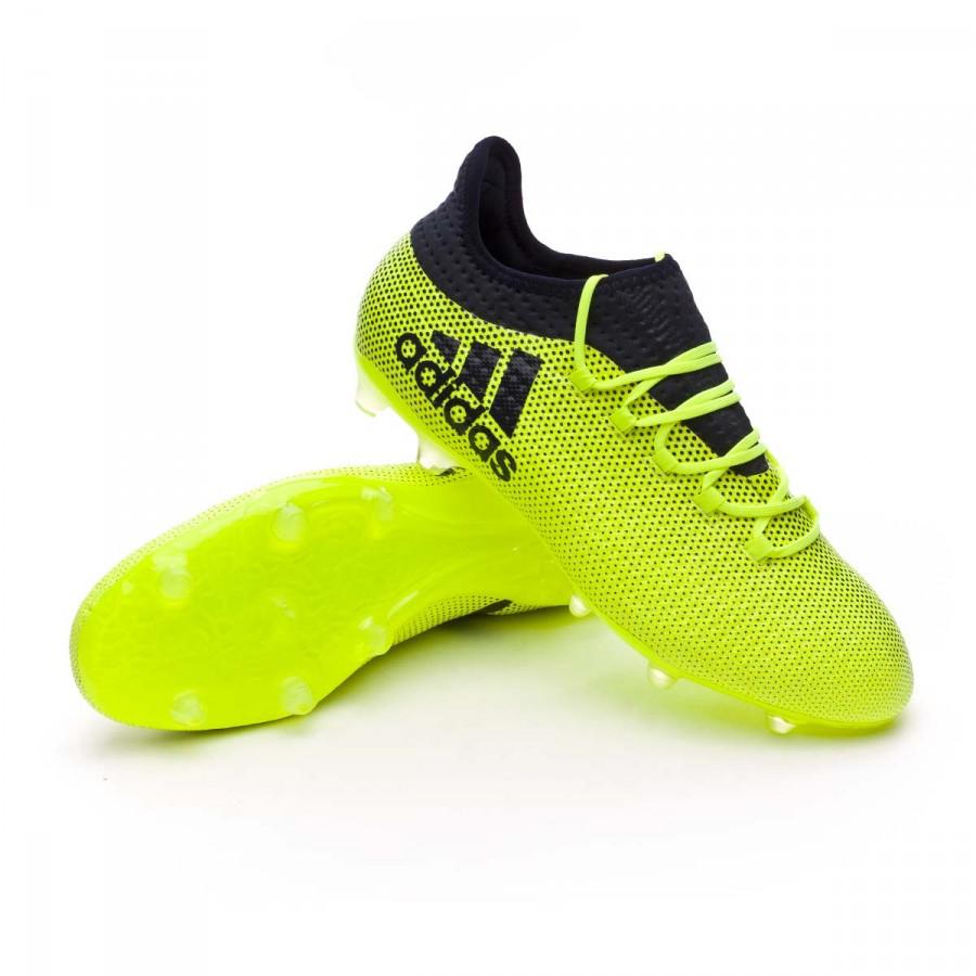 7635807f9c89 Football Boots adidas X 17.2 FG Solar yellow-Legend ink - Football ...