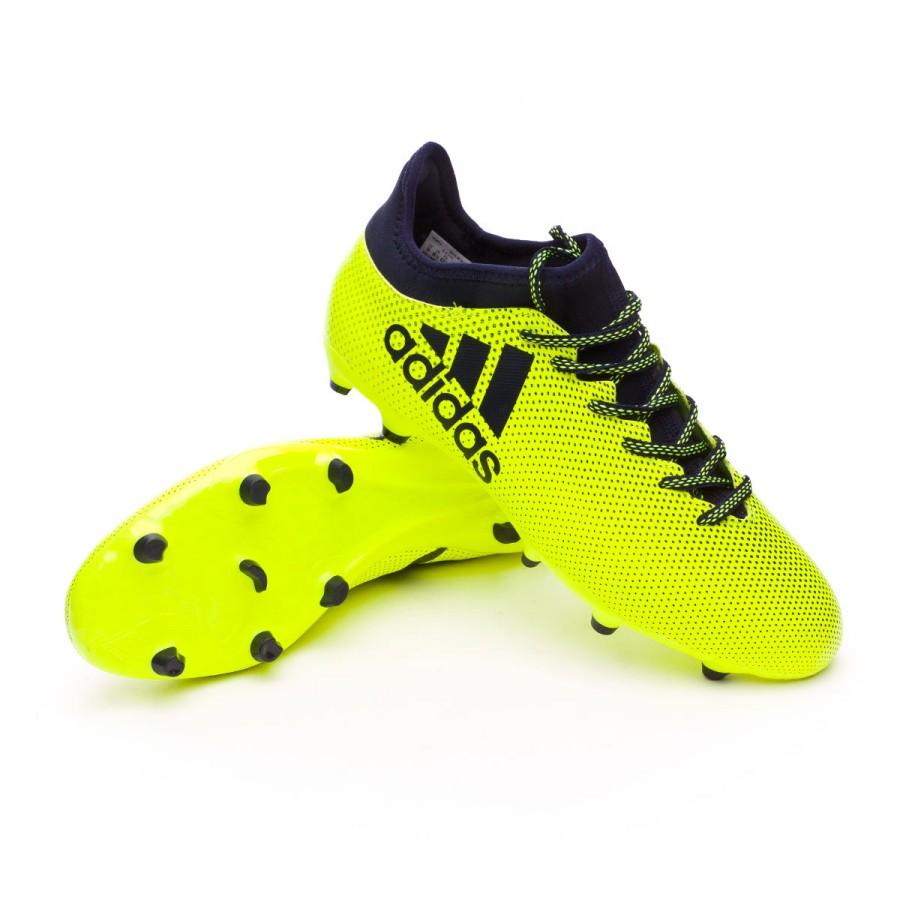 1bdd7f722cd2d Football Boots adidas X 17.3 FG Solar yellow-Legend ink - Tienda de ...