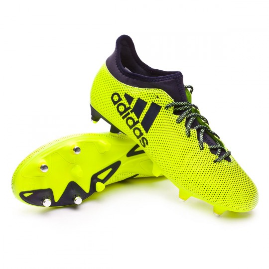 Chuteira  adidas X 17.3 SG Solar yellow-Legend ink
