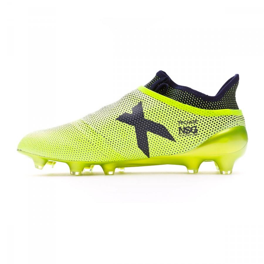 629fbb719 Chaussure de foot adidas X 17+ Purespeed FG Solar yellow-Legend ink -  Boutique de football Fútbol Emotion