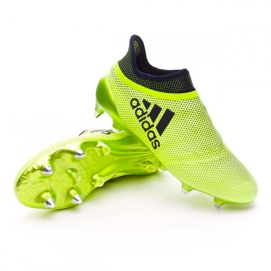 Chuteira  adidas X 17+ Purespeed SG Solar yellow-Legend ink
