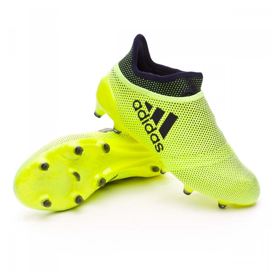 f6cd3063bae adidas Kids X 17+ Purespeed FG Football Boots. Solar yellow-Legend ink ...