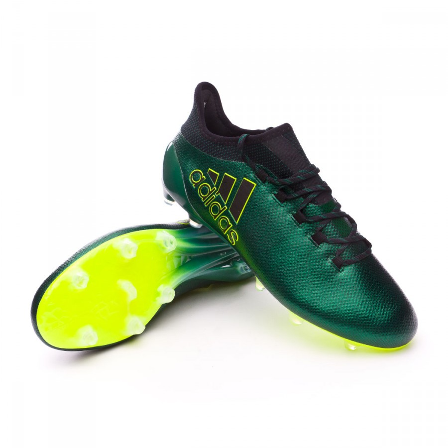 93e6a4e643f2b Football Boots adidas X 17.1 FG Core black-Solar yellow - Tienda de ...