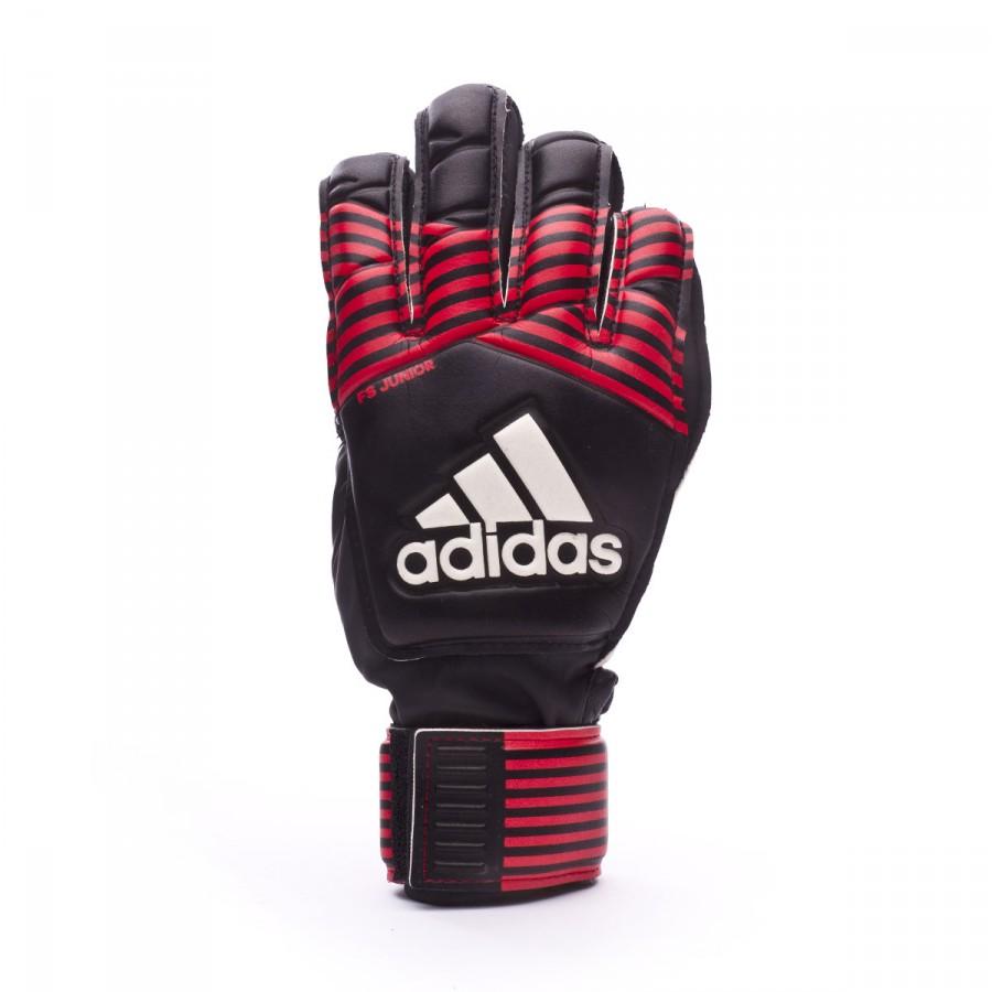 Guante de portero adidas Ace Fingersave Niño Black-Red-White - Leaked soccer 02b127b83252e