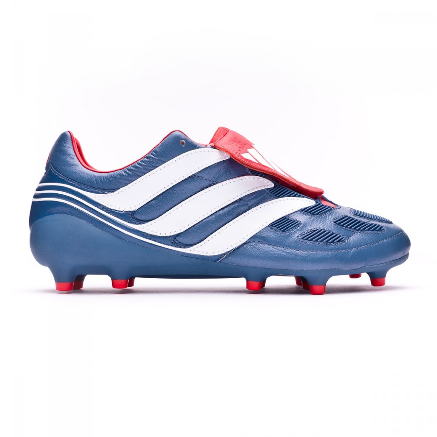 50b9fe57a1cd Football Boots adidas Predator Precision FG Blue grey-White-Collegiate red  - Tienda de fútbol Fútbol Emotion