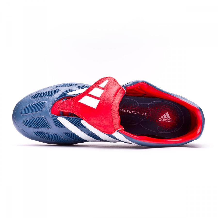 50b9fe57a1cd Football Boots adidas Predator Precision FG Blue grey-White-Collegiate red  - Tienda de fútbol Fútbol Emotion