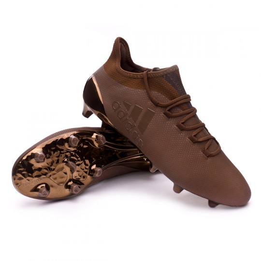 Bota  adidas X 17.1 FG Pure Stealth Copper metallic-Trace olive
