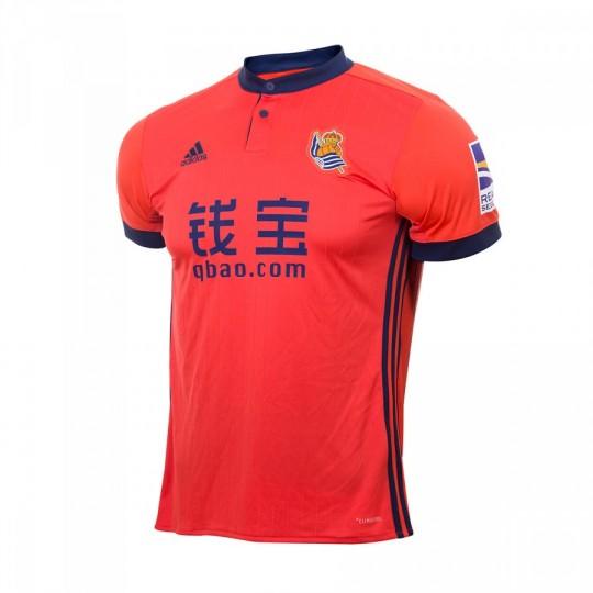 Camiseta  adidas Real Sociedad Segunda Equipación 2017-2018 Niño Bright red-Collegiate navy