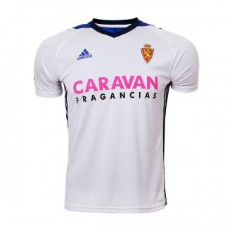 Camiseta  adidas Real Zaragoza Primera Equipación 2017-2018 Niño White-Bold blue