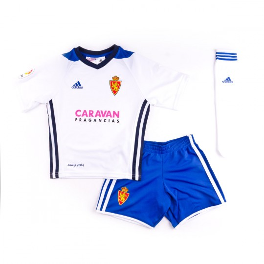 Conjunto  adidas Mini kit Real Zaragoza Principal 2017-2018 White-Bold blue