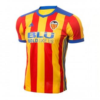 Camiseta  adidas Valencia CF Segunda Equipación 2017-2018 Niño Super yellow-Red