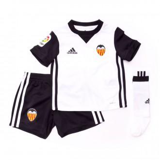 Conjunto  adidas Mini Valencia CF Primera Equipación 2017-2018 White-Black