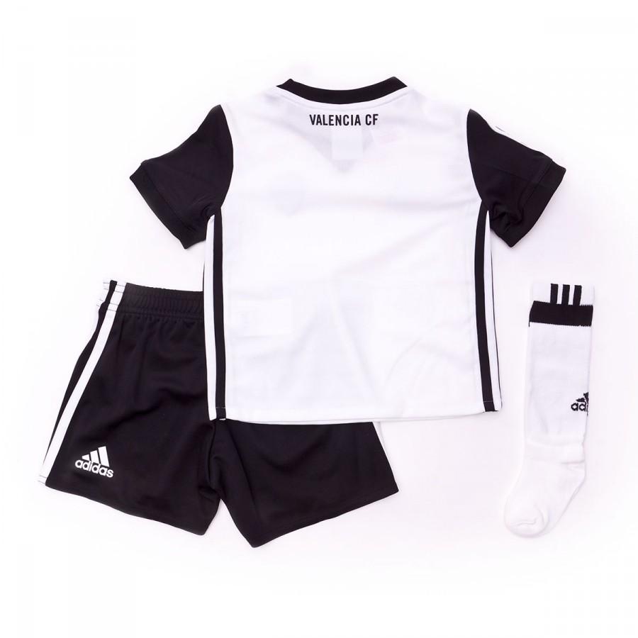 sports shoes 91d1f 43fa4 Conjunto Valencia CF Primera Equipación Niño 2017-2018 White-Black
