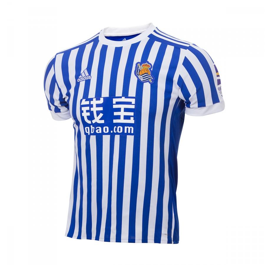 5f52e536bd18a Camiseta adidas Real Sociedad Primera Equipación 2017-2018 Bold blue-White  - Tienda de fútbol Fútbol Emotion