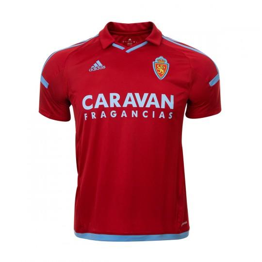 Camiseta  adidas Real Zaragoza Segunda Equipación 2017-2018 Power red-Light blue