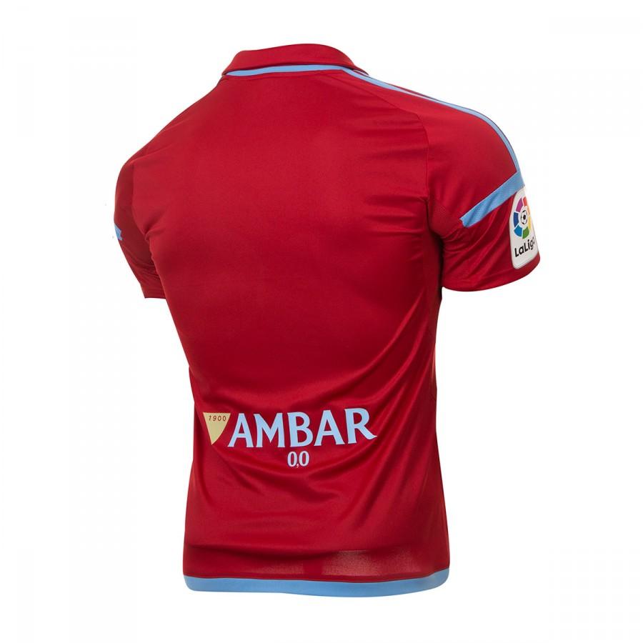 bb0e89a3a36a2 Jersey adidas Real Zaragoza Away 2017-2018 Power red-Light blue - Tienda de  fútbol Fútbol Emotion