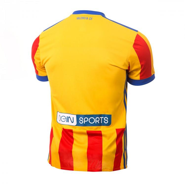 new styles e4306 c2b7a Camiseta Valencia CF Segunda Equipación 2017-2018 Super yellow-Red