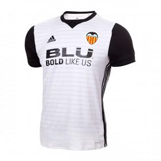 Camiseta  adidas Valencia CF Primera Equipación 2017-2018 White-Black