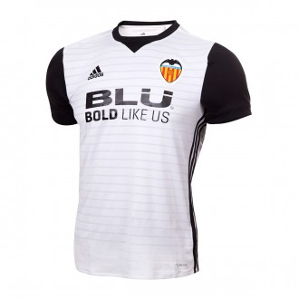 Camisola  adidas Valencia CF Principal 2017-2018 White-Black