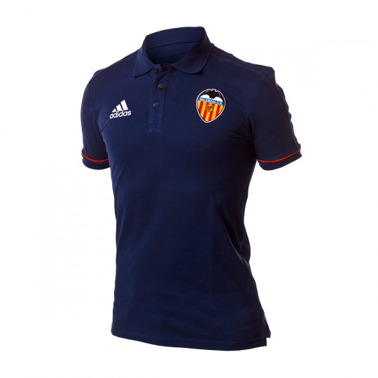 Polo  adidas Valencia CF 2017-2018 Collegiate navy-Energy-White