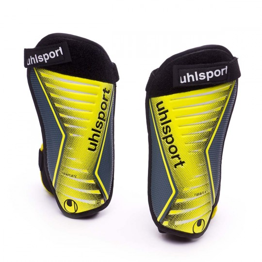 Espinillera  Uhlsport Tibia Plate Pro Fluor yellow-Griffin grey